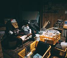 使っていない和室が物置状態の写真